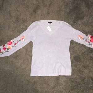 Brand new American Eagle sweater with floral arms